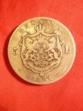 Moneda 5 lei 1881, Carol I Domn , argint , cal.Buna