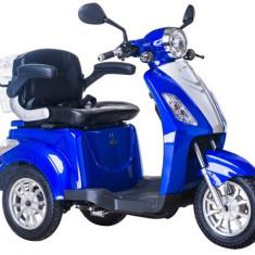 Tricicleta electrica, tip scuter, pentru agrementsau dizabilitati ZT-15-B TRILUX ALBASTRU