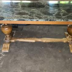 Masa cu Placa de Marmor ca. 150 X 65,5 X 60 cm