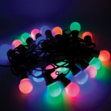 Ghirlanda lumini LED colorate, 20 globuri, 9.5 m