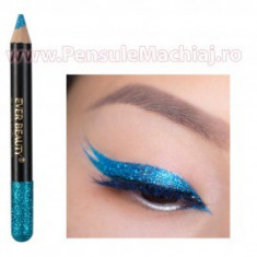 Eyeliner Creion Contur Ochi cu Sclipici Turquoise