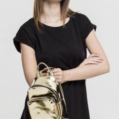 Mini Metallic Backpack auriu