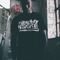 Tricou rap Naughtz by nature negru S