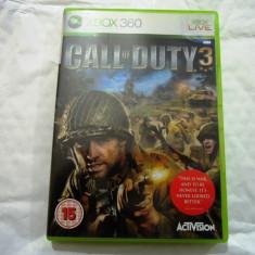 Call of Duty 3, XBOX360, original! - Jocuri Xbox 360, Shooting, 18+, Single player