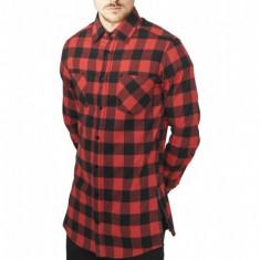 Camasi urban fermoar lateral negru-rosu XL