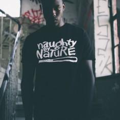 Tricou rap Naughtz by nature negru M