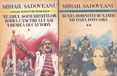 MINAIL SADOVEANU -  ROMANE ( 3 VOL ) + POVESTIRI ( 2 VOL ) foto