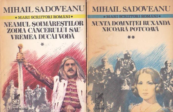 MINAIL SADOVEANU -  ROMANE ( 3 VOL ) + POVESTIRI ( 2 VOL )