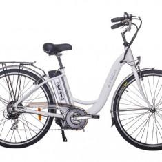Bicicleta electrica clasica cu cadru de aluminiu baterie Litium-Ion ZT-13 ALB