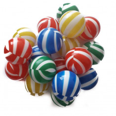 Set 100 bile Colour Stripes - Casuta/Cort copii, Multicolor, Plastic