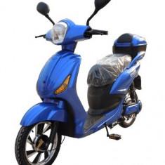 Bicicleta electrica, tip scuter, fara carnet si inmatriculare ZT-09-AL LI-ION ALBASTRU