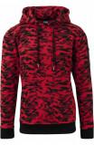 Sweat Camo Bomber Hoody rosu-camuflaj 2XL