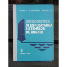 HIDROMETRIA IN EXPLOATAREA SISTEMELOR DE IRIGATII - C. NICOLAU