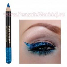 Eyeliner Creion Contur Ochi Albastru cu Sclipici True Blue