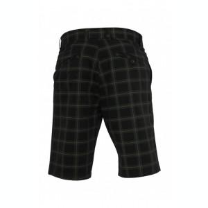 Pantalon scurt in carouri negru-gri-verde deschis 30