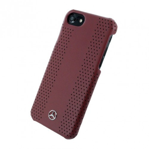 Husa de piele Mercedes Benz Perforated-Stripes II Apple iPhone 7 Red