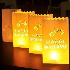 Lampioane decorative model Happy Birthday, 5 bucati