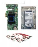 Kit Controller RAID adaptec ASR-6405E PCIe x1  SAS SATA + Hard Disk HDD 4TB SCSI