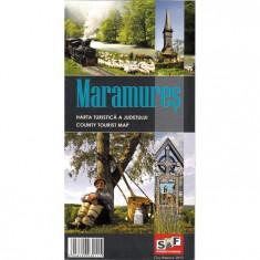 Schubert & Franzke Harta Turistica a Judetului Maramures