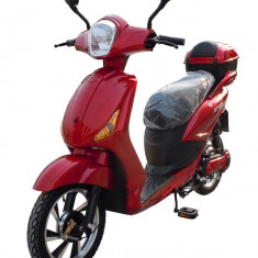 Bicicleta electrica, tip scuter, fara carnet si inmatriculare ZT-09-A CLASSIC ROSU