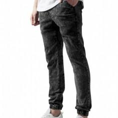 Pantaloni denim barbati acid-negru XL