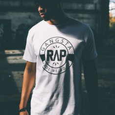 Tricouri rap Gangsta alb S