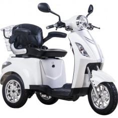 Tricicleta electrica, tip scuter, pentru agrement sau dizabilitati ZT-15-B TRILUX ALB