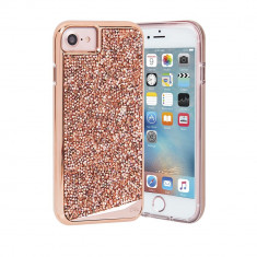 Husa Fashion dual layer Case-Mate Brilliance pentru Apple iPhone 7, Rose Gold - Husa Telefon Case-Mate, iPhone 7/8, Plastic, Carcasa
