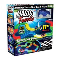 PROMOTIE! SUPER CIRCUITUL CU MASINUTA VAZUT LA TV MAGIC TRUCKS,CADOUL MINUNAT!, Electrice, Plastic