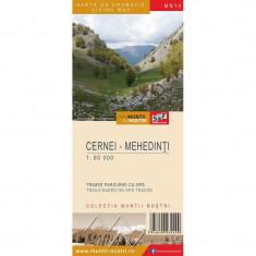 Schubert & Franzke Harta Muntii Nostri Harta Muntilor - Cernei-Mehedinti MN14, F. Schubert