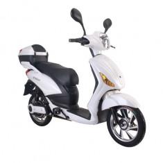 Bicicleta electrica, tip scuter, fara carnet si inmatriculare ZT-09-A CLASSIC ALB