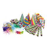 Set accesorii colorate de petrecere, 10 persoane