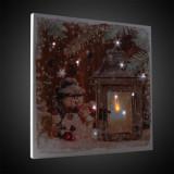 Tablou LED Winter, canvas, 30x30 cm