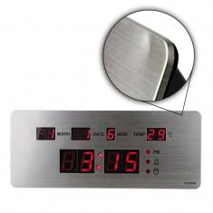 Ceas LED slim, alarma si termometru, TTN, Resigilat
