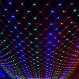Instalatie tip plasa de lumini, 400 LED-uri multicolore, 6x4m, Home