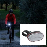 Far bicicleta 3 LED-uri albe, baterii, intrerupator, Faruri si semnalizatoare