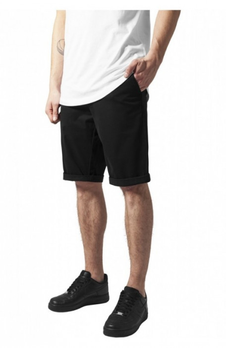 Stretch Turnup Chino Shorts negru 34