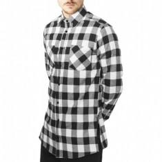 Camasi urban fermoar lateral negru-alb S
