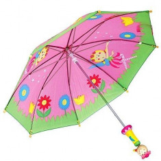 Umbrela manuala fete cu maner din lemn 75 cm - Umbrela Copii
