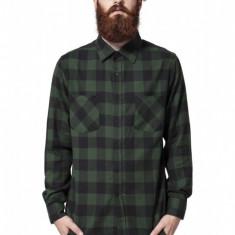 Camasi in carouri barbati negru-verde L