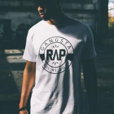 Tricouri rap Gangsta alb XS