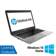 Laptop Refurbished HP EliteBook 840 G1, Intel Core i5-4200U 1.60GHz, 8GB DDR3, 128GB SSD, Webcam, 14 inch + Windows 10 Home - Server de stocare