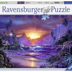 Puzzle Ravensburger Rasarit Paradis - 1500 piese