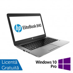Laptop Refurbished HP EliteBook 840 G1, Intel Core i5-4200U 1.60GHz, 4GB DDR3, 128GB SSD, Webcam, 14 inch + Windows 10 Pro - Server de stocare