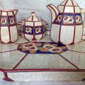 Set Art Deco, faianta Longwy Franta