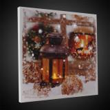Tablou LED Felinar, 30x30 cm, canvas