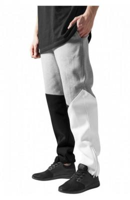 Pantalon trening zig zag negru-gri-alb L foto
