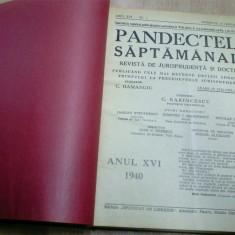 PANDECTELE SAPTAMANALE - 1940