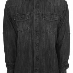 Camasi de blugi negru crud L, Maneca lunga