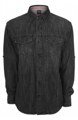 Camasi de blugi negru crud L foto